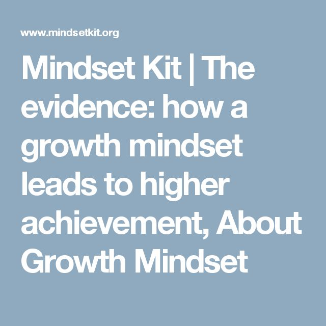 Mindset Kit | The evidence: how a growth mindset leads to higher achievement, About Growth Mindset