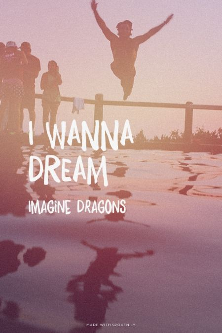 "I wanna dream - Imagine Dragons | Sarah made this with Spoken.ly. This song is so sad!! He's right, ""all these sorrows I have seen, they lead me to believe, oh everything's a mess. So leave me to dream."""
