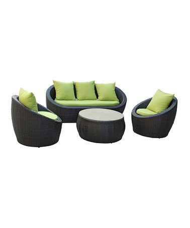 Brown & Avocado Avo Four-Piece Sofa Set by Modway on #zulily