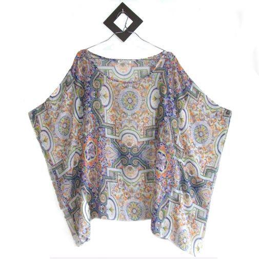 Blusa pañuelo estampado étnico - Chicfy