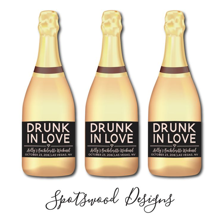 Mini Drunk In Love Custom Champagne Label. Wine Label. Bachelorette Party Decorations. Engagement Party. Bachelorette Weekend. Feyonce. by SpotswoodDesigns on Etsy