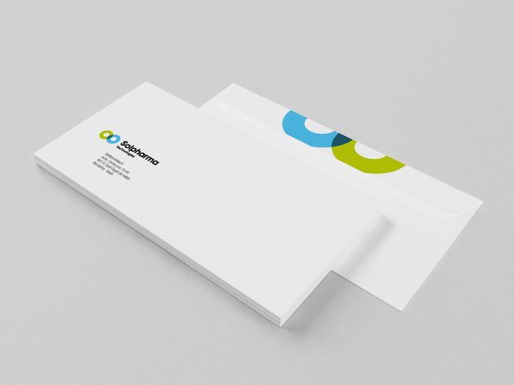 Los sobres corporativos de Solpharma, uno de nuestros clientes.