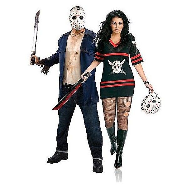 friday the 13th miss jason voorhees plus adult couples costume 37 liked on polyvore featuring costumes halloween costumes horror costumes plus size