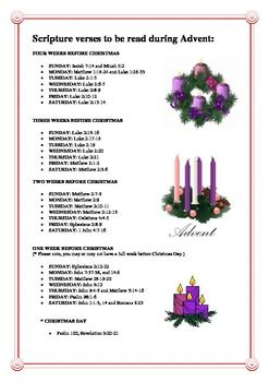 christmas 39 scripture verses 39 to be read during advent. Black Bedroom Furniture Sets. Home Design Ideas