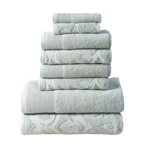 Affinity Elegance Egyptian Cotton 6 Piece Bath Towel Set Sage Green