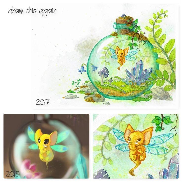 Magical Still Life ( Draw This Again Challenge ) by Maszkai.deviantart.com on @DeviantArt  #drawthisagainchallenge