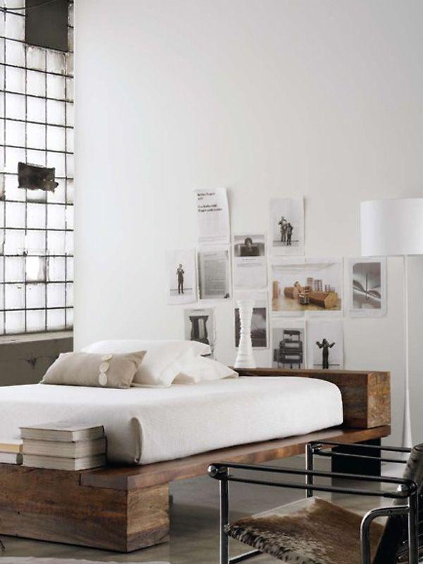 Linda, linda essa base rústica para cama...