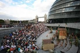 The scoop is a sunken amphitheatre that plays host to free shows throughout the summer