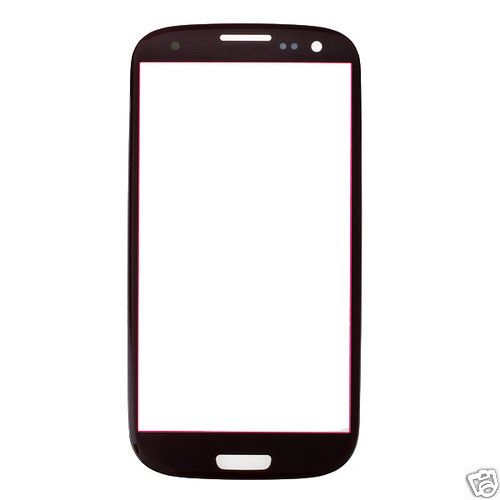 Replacement Parts Touch Panel Glass for Samsung Galaxy S3 i9300(Red)