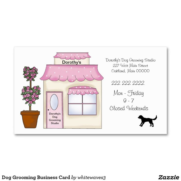 Dog Grooming Business Card | Business Promotional Products ...