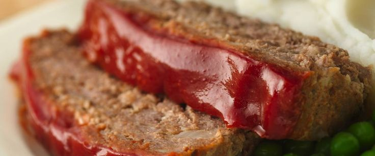 Enjoy this hearty beef loaf glazed with gluten free ketchup – a perfect baked dinner.