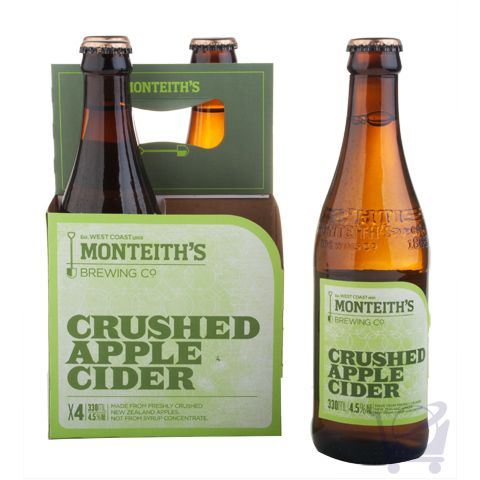 Crushed Apple Cider – Monteith's  X 4 bottles | Shop New Zealand