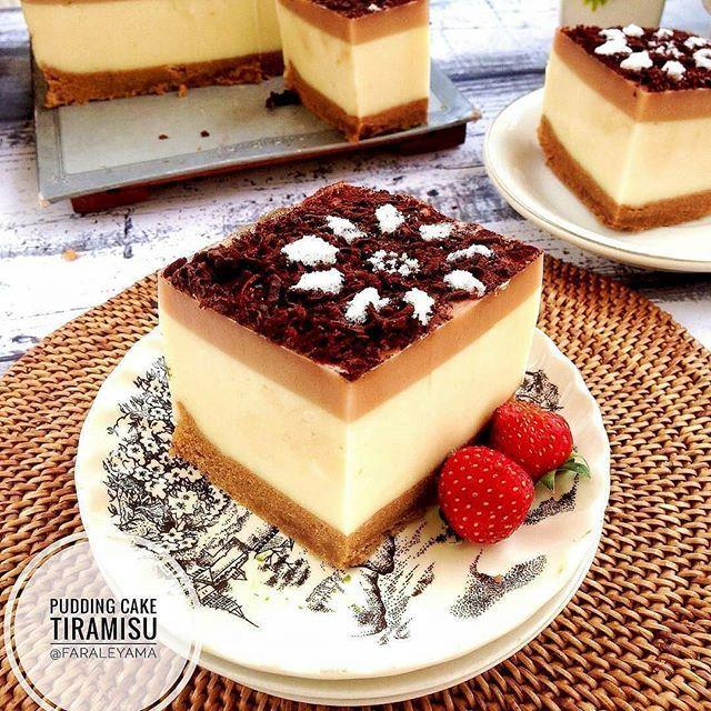 Pudding Cake Tiramisu Oleh Faraleyama Loyang 18x18x7 Bahan Cake 3butir Telur 50gr Gula Pasir 1 2sdt Sp 50gr Tepung Terigu 3 Resep Kue Resep Tiramisu