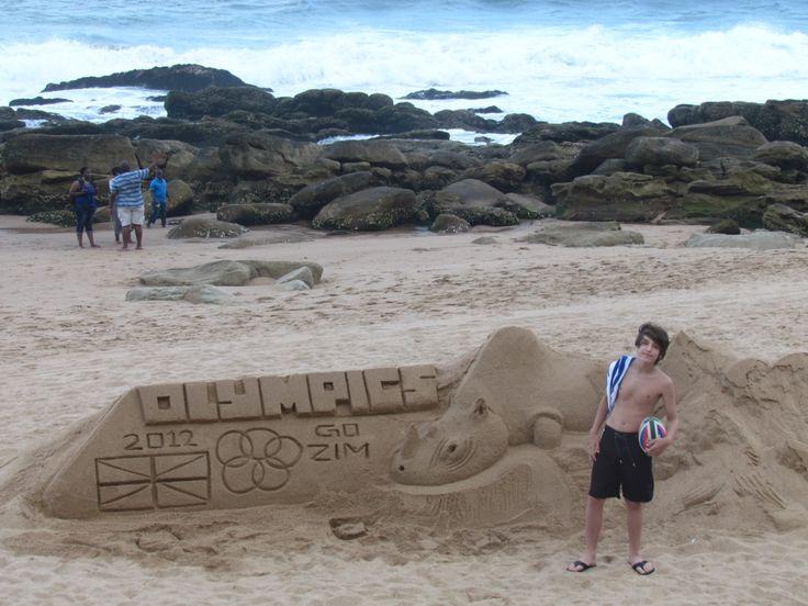 Castillito de arena, en la costa del Océano Ïndico