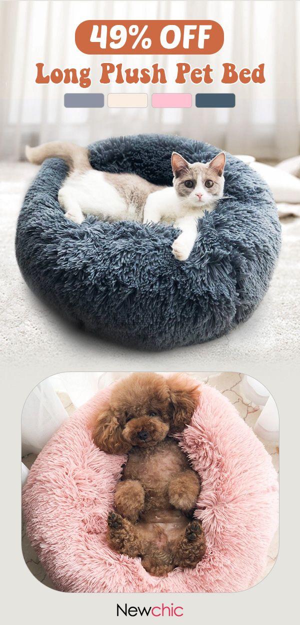 【49% off】 Lengthy Plush Tremendous Gentle Pet Spherical Mattress Kennel Canine Cat Snug Sle…