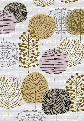 mid century modern tree textile - Google Search