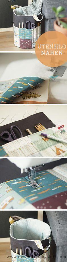 Baby Knitting Patterns DIY-Anleitung für ein praktisches und großes Utensilo / diy ...