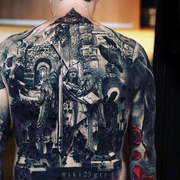 Full Back Badass Male Tattoo Inspiration #tattoosformenbadass