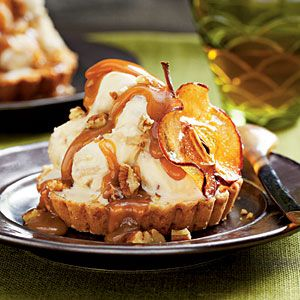 Apple Croustades With Brown Sugar-Bourbon Ice Cream Recipes ...