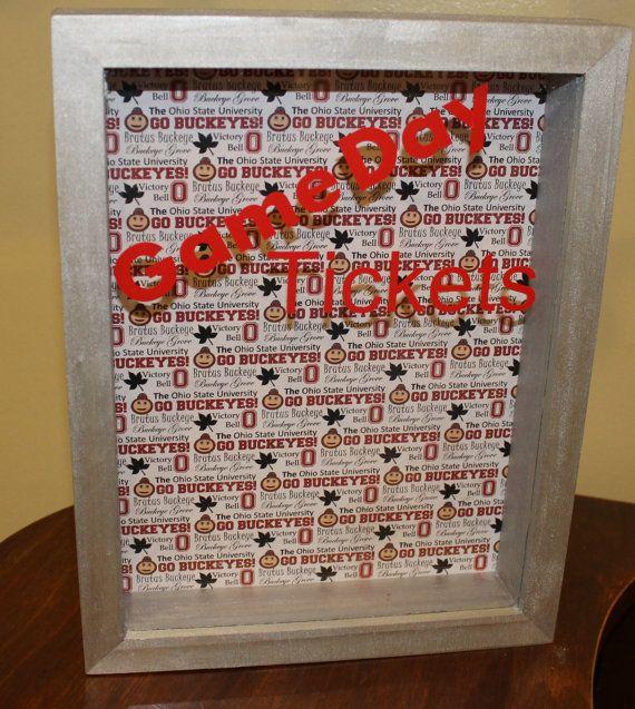Game Day Ticket Box Ohio State Ticket Holder by thebuckeyelady