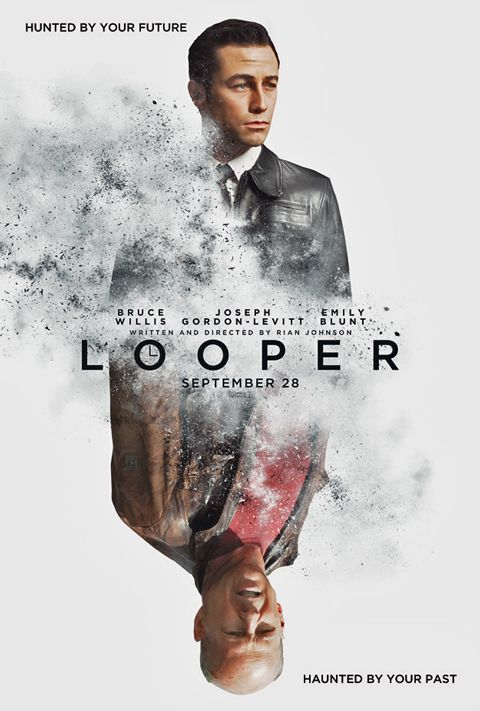 INTERESTING SCI-FI THRILLER: Looper by Rian Johnson, 2012 (R)