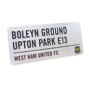 West Ham United Fc. Metal Street Sign by West Ham United F.C.. $14.93. Approx 40cm x 18cm. West Ham United F.C.. Official Licensed Product. Metal Street Sign. West Ham United F.C. Metal Street Sign Approx 40Cm X 18Cm Official Licensed Product