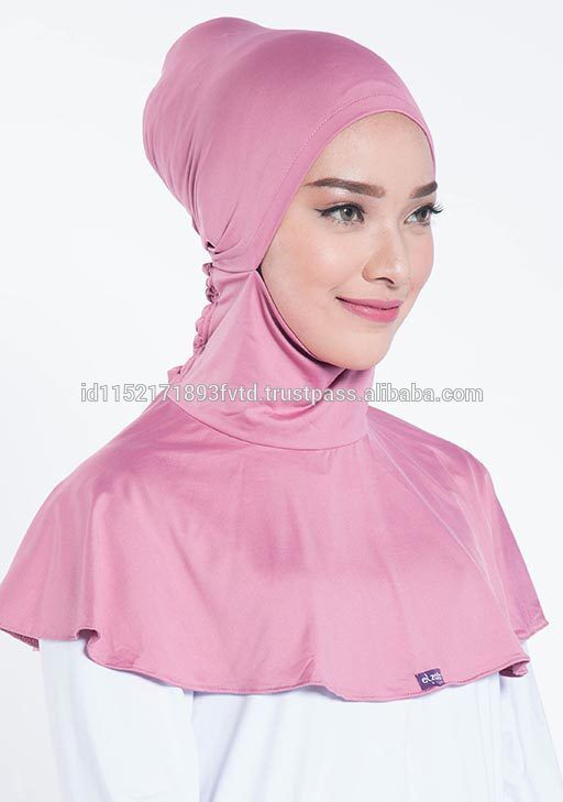 Simple Product Inner Hijab Elzatta Ciput Maroko Freesia Mauve Wood Hijab For The World