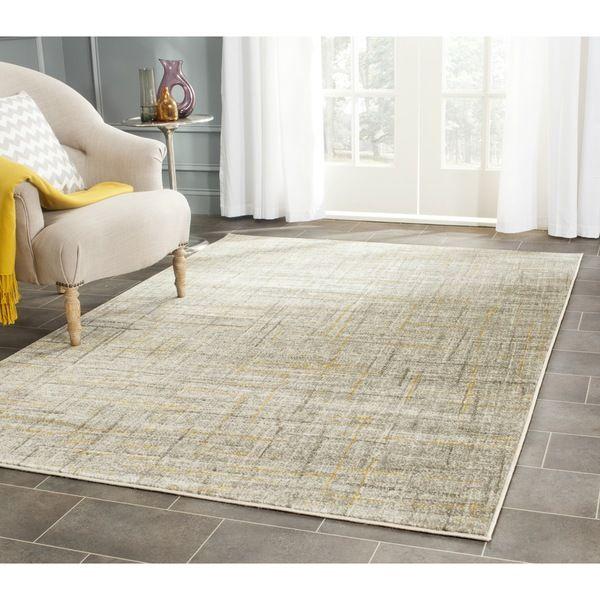 Safavieh Porcello Grey/ Dark Grey Rug (8'2 x 11') - Overstock™ Shopping - Great Deals on Safavieh 7x9 - 10x14 Rugs