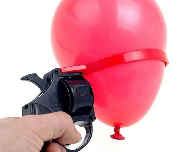 Enjoy a game of Russian Roulette with the whole family where nobody has to die - this water balloon version of the deadly roulette game plays with similar rules, only the loser walks away with completely soaked clothing and not a bullet in the head.