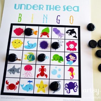 Under the Sea Bingo - free printable games & crafts for kids