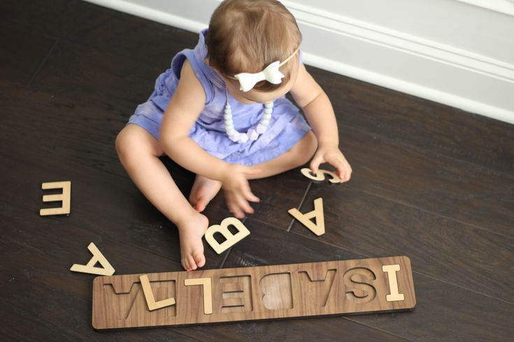 Unique, Educational & Developmental Wooden Toys - handmade children's name puzzle for toddler gift