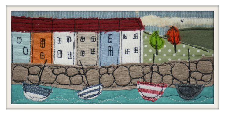 www.facebook.com/zoewrighttextiles   inspired by my love of the sea. #Cornwall #boats #sea #seaside