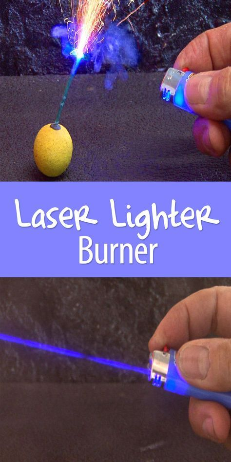 The world's first Bic-style laser lighter. Butane is outdated. Time to use blue burning lasers!