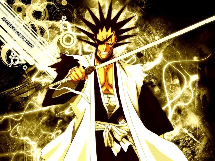 Zaraki Kenpachi. Only the weaklings need BANKAI!!! HaHaHaHa!!! I feed on pain