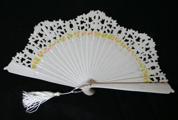 Wedding fan. Hand painted. $45. Free shipping to US. Click to buy now:  https://www.etsy.com/listing/211676596/wedding-fan-hand-painted-free-shipping
