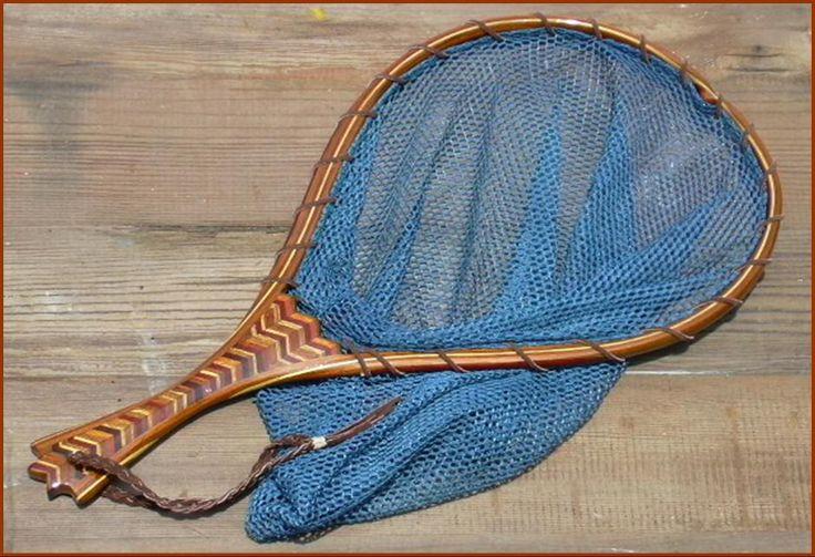 Custom wood fly fishing landing net 18 multiple domestic for Fish landing nets