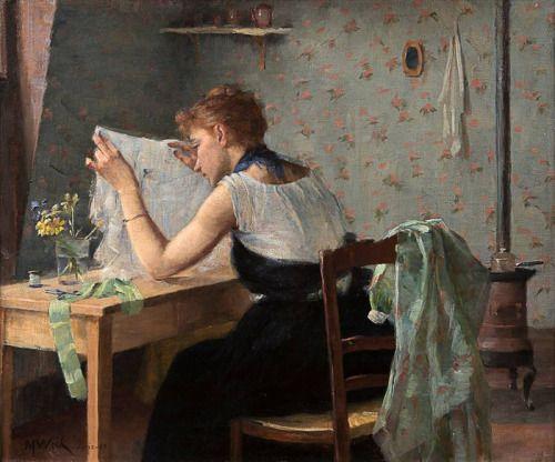 Cámara ático, para el año - artista Maria Wiik 1889Finnish, 1853-1928