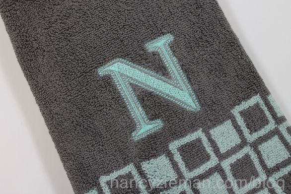 How to embroider a towel by Nancy Zieman and Eileen roche | Nancy Zieman Blog