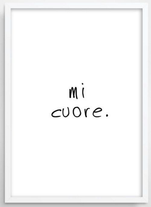 Christmas Gift for the one you love - Mi Cuore (My Heart)