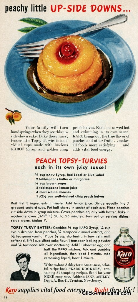 1950 Karo - Peach topsy-turvies