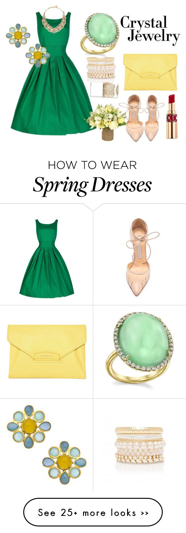 """Crystal Jewelry"" by eloisecheng on Polyvore featuring Irene Neuwirth, Kate Spade, Kanupriya, Jayson Home, Forever New, Bionda Castana, Givenchy, Yves Saint Laurent and Nails Inc."