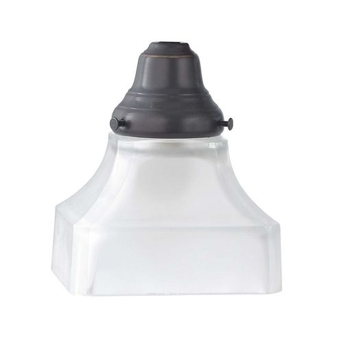 White Square Glass Shade - 2-1/4-Inch Fitter Opening   G9415   Destination Lighting