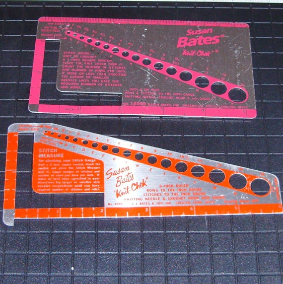Crochet Stitch Gauge : ... in USA, Knitting Needles, Crochet Hooks Plastic, Gauges and Knitting