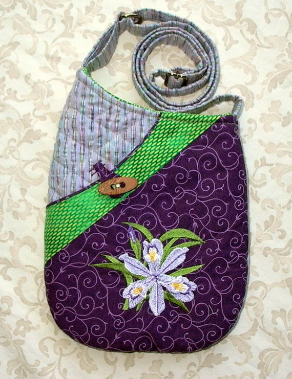 Small Quilted Shoulder Bag Purse with Embroidered Dwarf