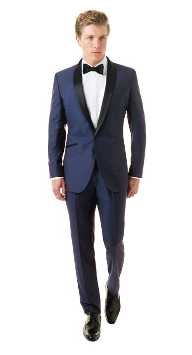 Solid Royal Blue Tuxedo Front from Black Lapel  #blacklapel #shopjoielle #weddingchicks