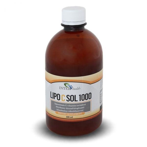 Interhealth Lipo C Sol 1000 folyékony liposzómális C vitamin 500 ml | Bálint István féle liposzómális C-vitamin: Lipo C Sol 1000 5 ml = 1000 mg kb. 95%-ban felszívódó Liposzómás C-vitamin + Magnézium + Cink + Szelén. 50.000 mg liposzómás C-vitamin egyetlen üvegben! A liposzómás formula biztosítja a C-vitamin tökéletes felszívódását és hasznosulását. A liposzómás C-vitamin a vékonybélből közvetlenül - és sértetlenül - a vérkeringésbe kerül, és a teljes hatóanyagtartalmát eljuttatja a…