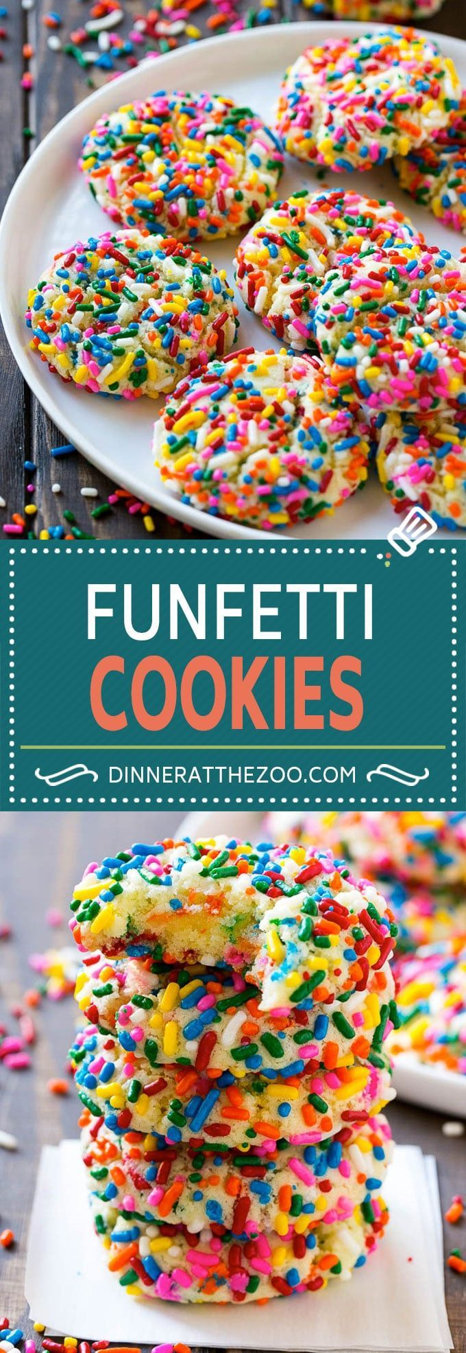 Funfetti Cookies Recipe | Funfetti Cake Mix Cookies | Sprinkle Cookies | Cake Mix Cookies. Birthday party for kids