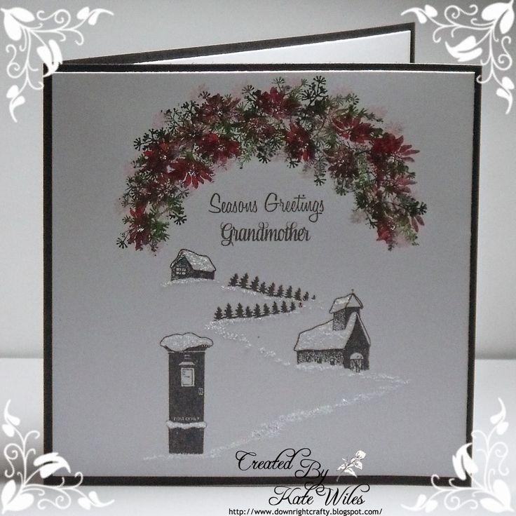 CAS Handmade Christmas Card using Card-io Majestix stamps Downrightcrafty