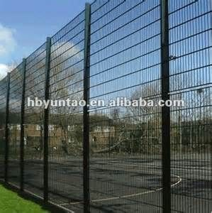 Black Welded Wire Fence Mesh Panel Wire Mesh Fence Pvc