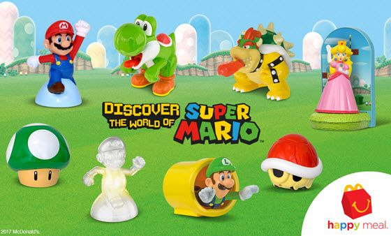 McDonald's is including Super Mario toys in its Happy Meals.